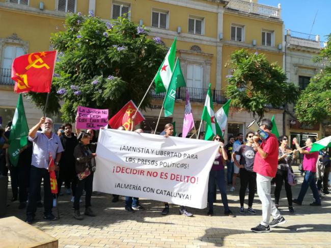Sin incidentes la concentración en Almería en apoyo a los presos independentistas