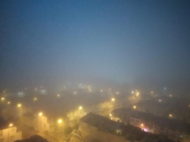La niebla cubrió Aguadulce