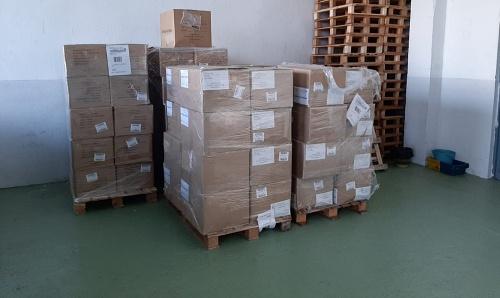 Ya están en Almería 221.000 mascarillas para su distribución