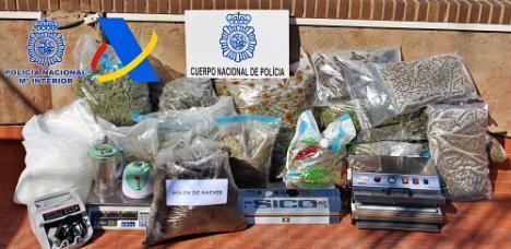 Seis familiares detenidos en una operación contra el tráfico de drogas