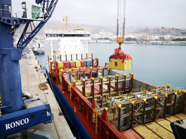 El Puerto de Almería incrementa un 705% el tráfico de mercancías