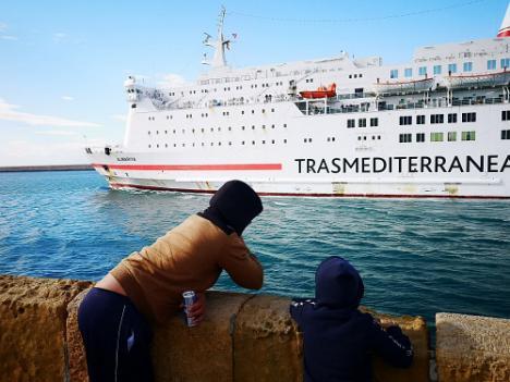 El movimiento de pasajeros en el Puerto crece en enero y febrero y se ralentiza en marzo