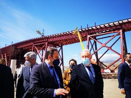 El presidente de la Autoridad Portuaria agradece a Ábalos el apoyo económico en la restauracion del Cable Inglés