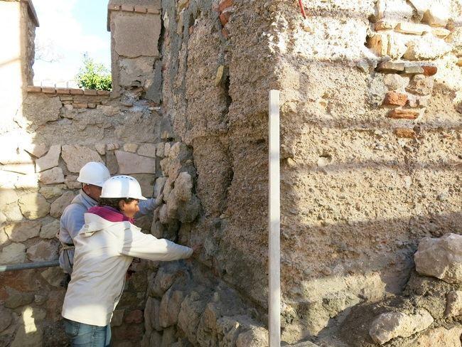 Acaban las obras de conservación en el 'Bastión Sur' de la Alcazaba