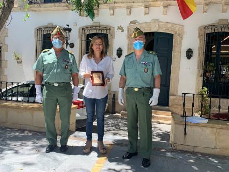 La Legión agradece a Níjar la acogida a la Unidad de Artillería durante el confinamiento
