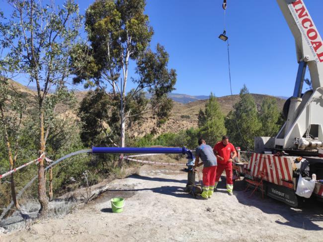 Diputación garantiza el agua potable en Alcolea con un Sondeo en Lucainena