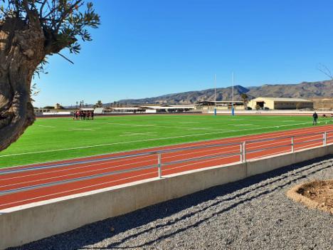 La Selección Española de Rugby-7 entrena en el Campo construido por la Diputación en La Legión