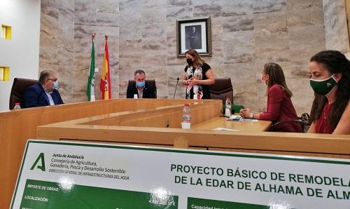 En licitación la EDAR de Alhama de Almería anunciada por la consejera Crespo
