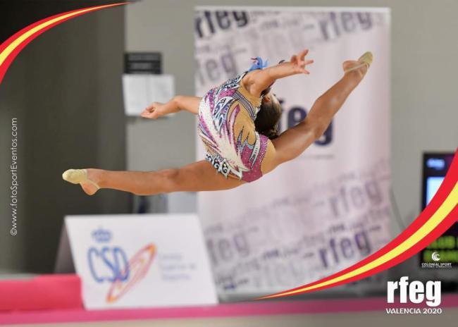 Inés Castelló, décimo sexta de España en el Campeonato Nacional de Gimnasia Rítmica