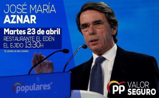 Mitin de Aznar en El Ejido para recuperar el voto fugado