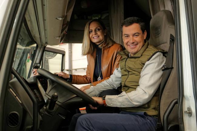 Moreno reclama en El Ejido atención al sector del transporte