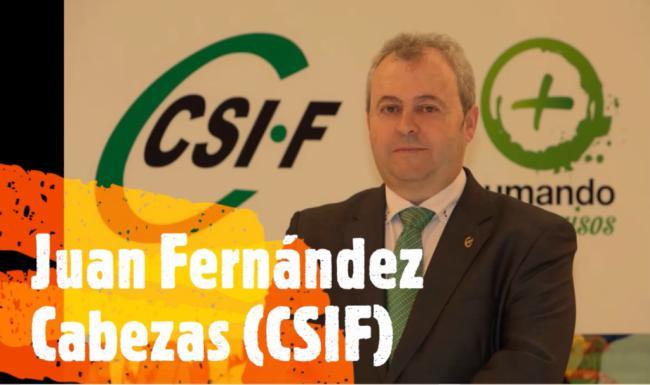 """Juan Fernández (CSIF): """"El 1 de Mayo debe ser de homenaje"""""""