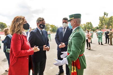 La Diputación de Almería participa en la toma de posesión del General Jefe de la Legión