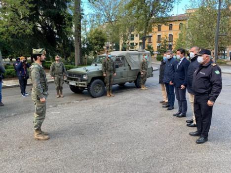 Los legionarios de Viator prestan servicio en Granada por el #COVID19