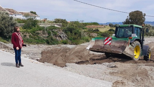 Obras de urgencia en Huércal Overa por los efectos de las lluvias del fin de semana