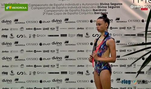 Las almerienses Ainhoa y Valeria finalizan séptimas de España en gimnasia rítmica
