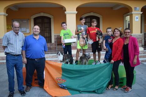 """José Navarro Figueiredo y su perrita """"Luna"""", vencedores de la III Carrera de Canicross"""