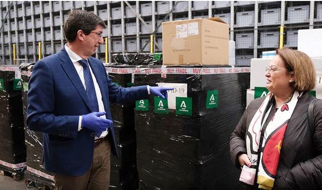 La Junta confirma la llegada de 4 millones de unidades de material de EPI