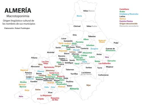 Casi el 5% de la toponimia almeriense es arábiga