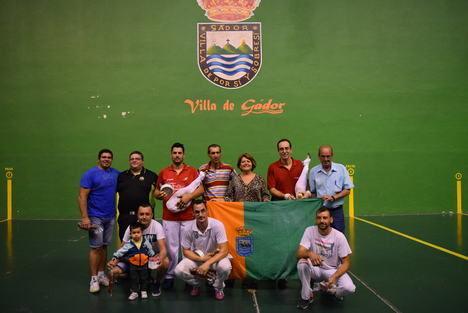 """La pareja """"Vizcaíno-Martínez"""" se impone en el Torneo de Pelota de la Feria de Gádor"""