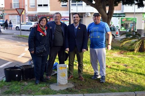 Nuevos monolitos señalizarán el Camino Mozárabe a Santiago de Compostela