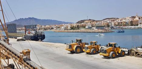 El tráfico de mercancías en el puerto de Garrucha crece más de un 6% pese al Covid