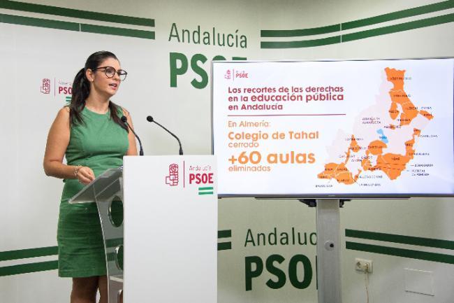 El PSOE avisa que la Junta quiere cerrar 60 escuelas rurales en Almería