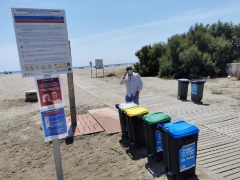 """""""Sobresaliente"""" equipamiento en las playas de Vera"""