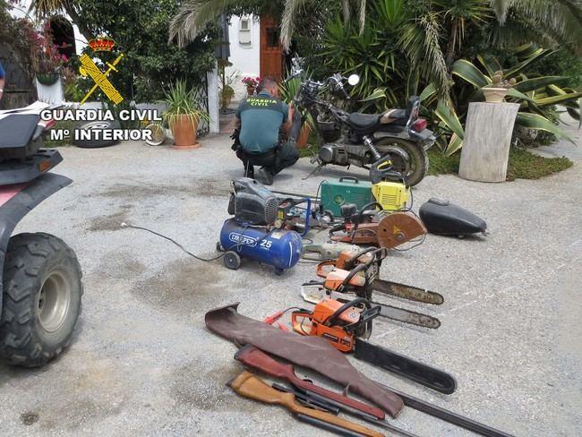 Desarticulada una banda que robó en el Almanzora joyas, herramientas, armas y vehículos