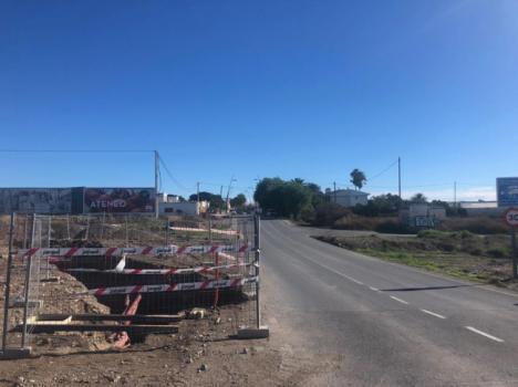 Iniciado acondicionamiento de la carretera del aeropuerto a El Alquián