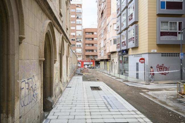 Las obras de la calle San Leonardo estarán terminadas a finales de octubre