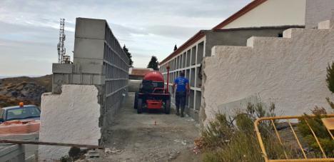 Diputación ampliará los cementerios de Andarax, Poniente, Levante y Los Vélez