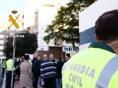 La Guardia Civil realiza un simulacro de emergencia en la Comandancia de Almería