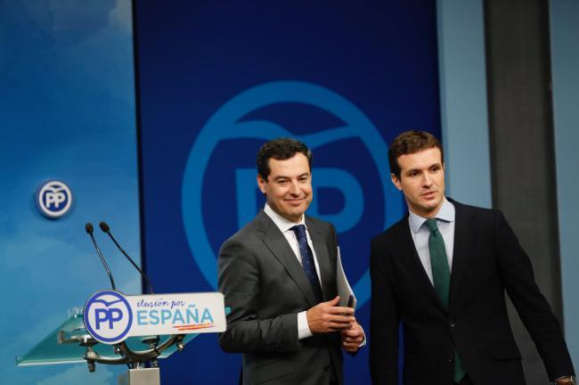 Juanma Moreno dice que no sería comprensible una opción distinta a ser él presidente