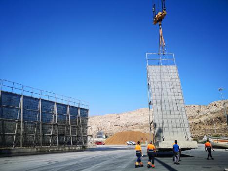 El Puerto de Almería ampliará las pantallas atrapa-polvo del muelle de Pechina