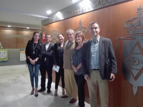 Crespo ve fundamental que Roquetas de Mar y Huércal-Overa tengan una nueva sede judicial