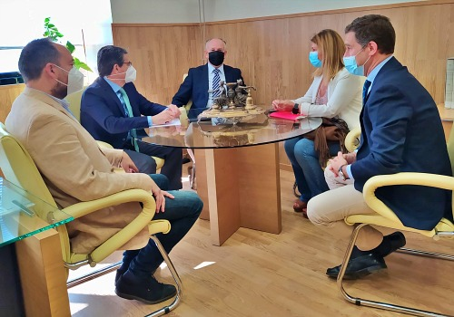 Parlamentarios y diputados del PP de Almería se reunen con el presidente de la Audiencia