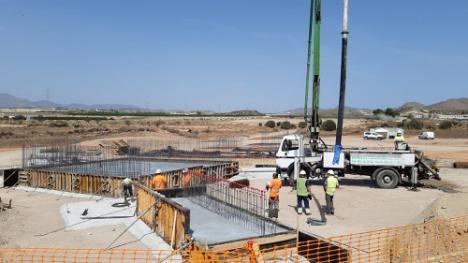 Adif AV avanza en las obras de plataforma del tramo Pulpí-Vera