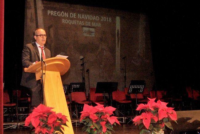 El secretario del Ayuntamiento de Roquetas de Mar pronunció el pregón de Navidad