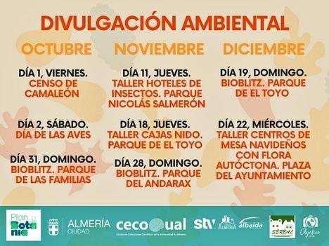 Almería programa este otoño ocho actividades medioambientales en cuatro parques
