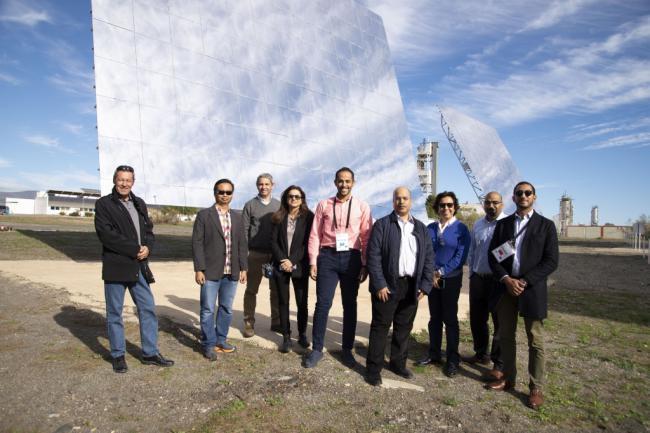 Agentes de Malasia, Arabia, Marreucos y Chile visitan la Plataforma Solar de Almería