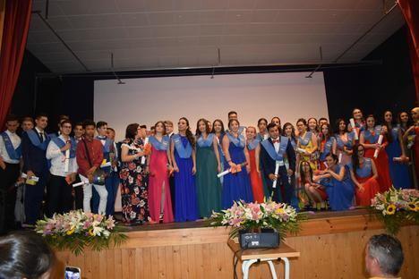Puesta de Bandas fin de curso de los alumnos del Instituto de San Isidro de Níjar