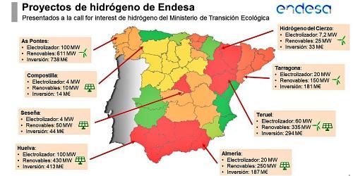 Endesa incluye a Almería en su proyecto de hidrógeno verde