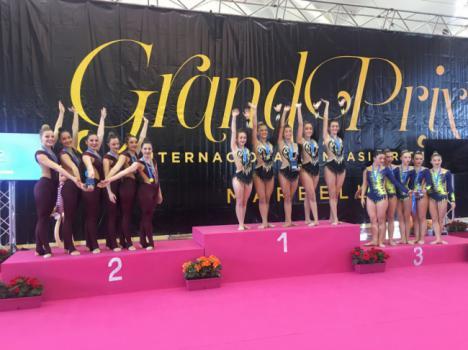 Éxito de la gimnasia rítmica de Vera en Marbella