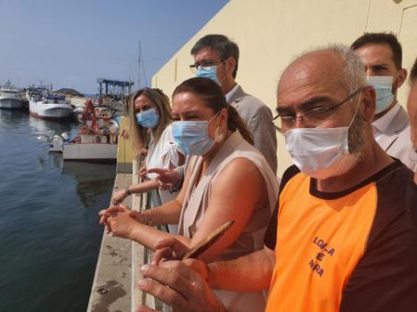 Piedra de la obra de urbanización del puerto de Adra