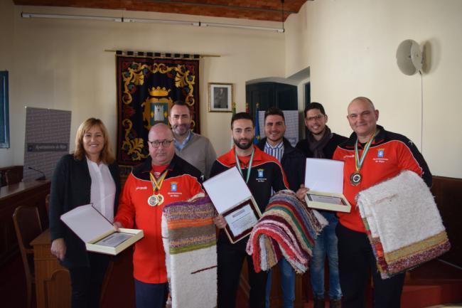 El Ayuntamiento de Níjar reconoce los éxitos deportivos de Vicente Encinas, Alejandro Durán y Vadym Dubrava