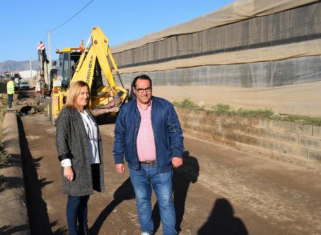 Cinco nuevos tramos se suman al plan de acción en camino agrícolas de Níjar