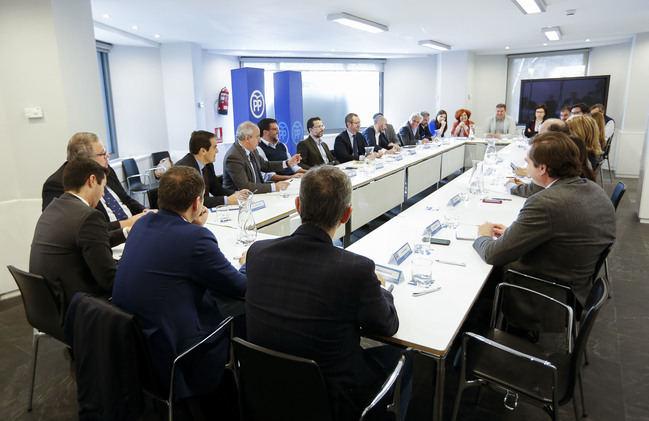 Herrera en el Comité de Campaña del PP para las Elecciones Municipales, Autonómicas y Europeas