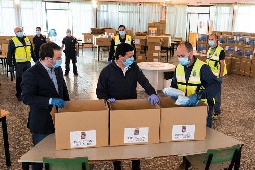 Diputación recibe 92.000 mascarillas más contra el #COVID19