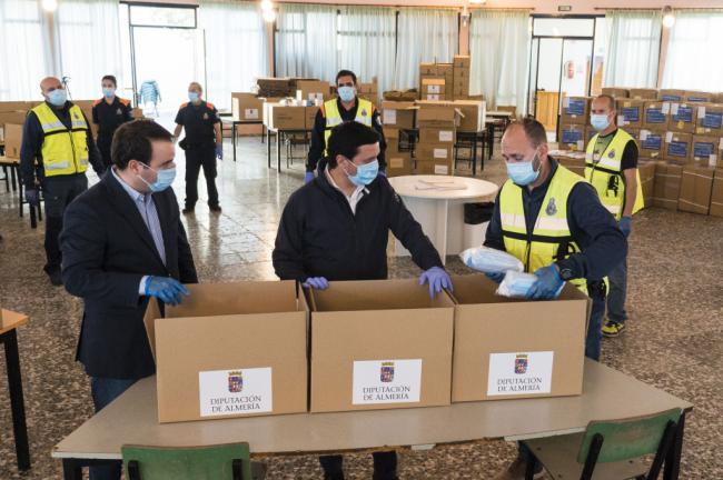 Diputación recibe el pedido de material sanitario